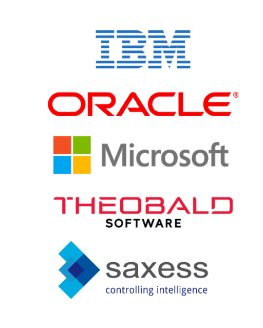 Technology partners of Serviceware Performance are IBM, Oracle, Microsoft, Theobald and Saxess.
